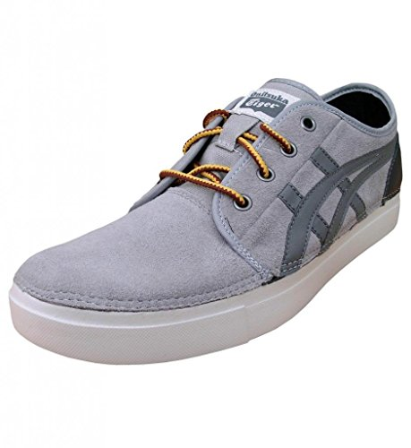 Onitsuka Tiger Mens Suede Asics Claverton Sneakers Grey / Mid Grey Stripes / Dark Grey Heel B6JuSRSYx