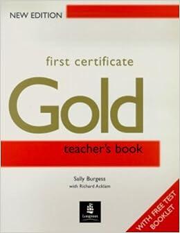 Book First Certificate Gold Teachers Book New Edition