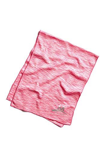 Mission Enduracool Techknit Cooling Towel, Hot Pink Space Dye, Large - 2 Hot Pink Snap