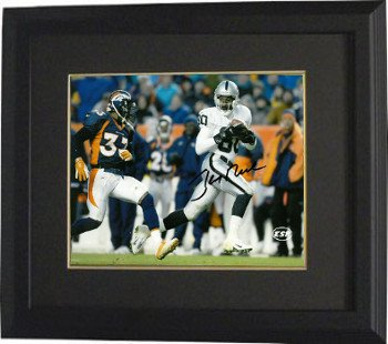 Jerry Rice Raiders Jersey (Athlon CTBL-BB17022 Jerry Rice Signed Oakland Raiders 8 x 10 Photo Custom Framed - White Jersey)