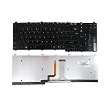 SUNMALL New Laptop Keyboard with Backlit/Backlight for Toshiba Satellite P300 P305 L505 L355 A500 A505 A505D P500 P505 P500D P505D series Black US Layout