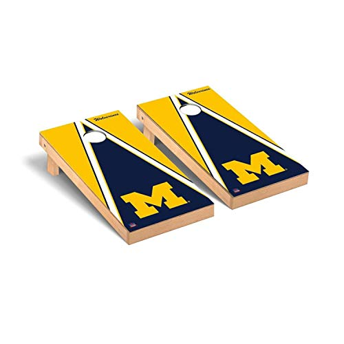 Michigan Wolverines Set - NCAA Triangle Version Cornhole Game Set NCAA Team: Michigan Wolverines