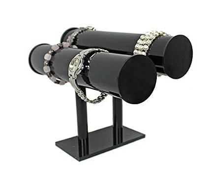 Soporte para joyas Reloj Soporte con 2 ruedas para relojes pulseras joyas acrílico