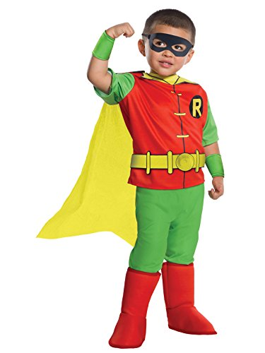 Rubies DC Comics - Robin Deluxe Toddler Costume (Too Soon Costumes)