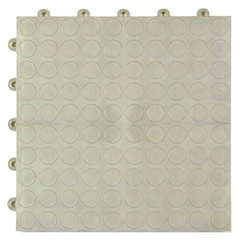Greatmats Garage Floor Tile Cointop 1 ft x 1 ft 24 Pack Metallic