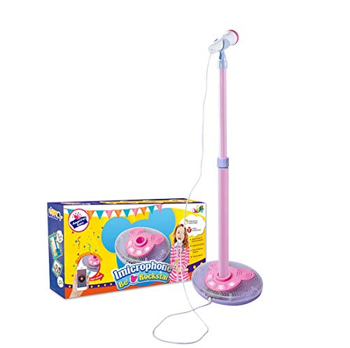 Kid Microphone Toys, Kids Children's Karaoke Machines with Stand, Kid Gifts for 3 4 5 6 Year Old Girls,A by GHDE& (Image #8)