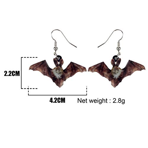 IUTING Weveni Acrylic Halloween Unique Bat Earrings Drop Dangle Unique Animal Jewelry for Women Girls Gift Charms Party Accessories