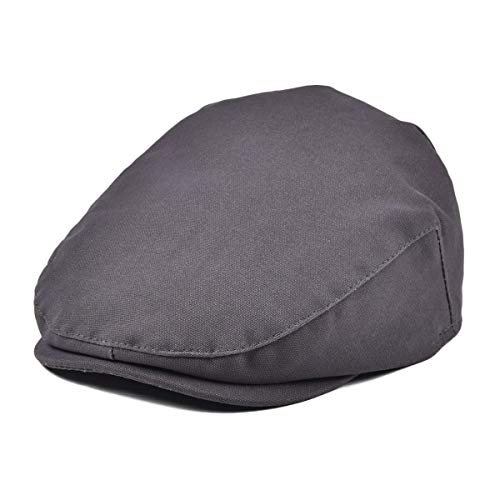 JANGOUL Baby Boy's Cotton Hat Driver Page Boy Cap Fully Lined Newsboy Cap Grey