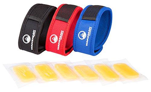 Wakeman Mosquito Repellent Bracelets 3 Wristbands + 6 Refills No Deet (Rock Bands Bracelets)