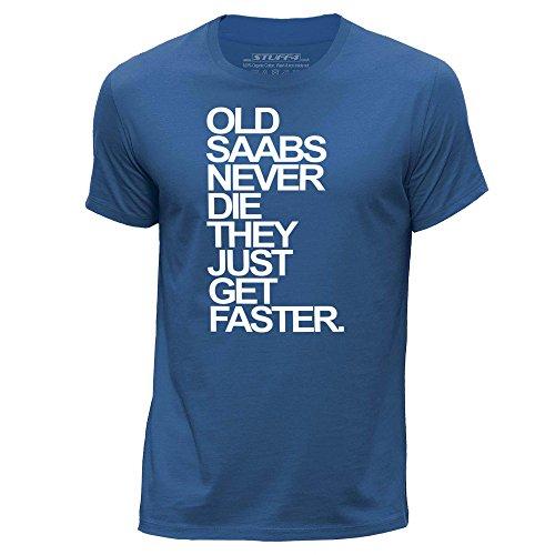 stuff4-mens-large-l-royal-blue-round-neck-t-shirt-old-saabs-saab-never-die