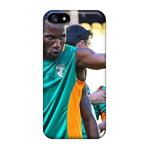 New Premium GDWillis The Forward Of Galatasaray Didier Drogba Before The Game Skin Case Cover Excellent Fitted For Iphone 5/5s