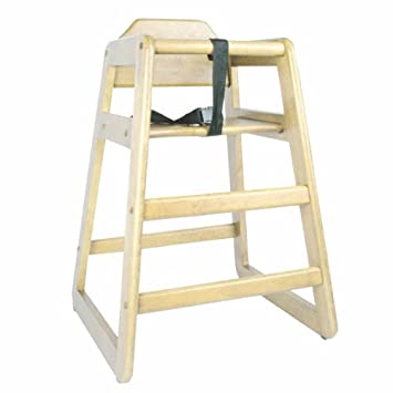 ChefLand New Baby Wooden High Chair Restaurant Style Stackable  U0026quot;Natural Woodu0026quot; Finish
