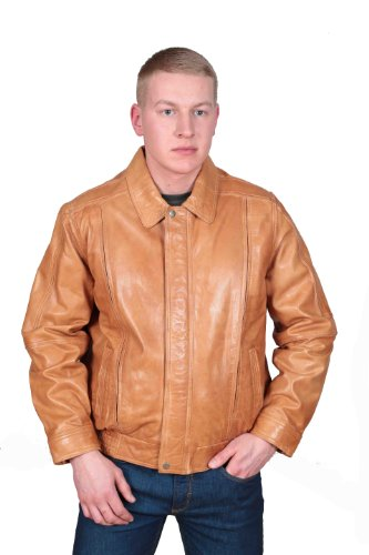 Tan Leather Jacket Mens - 4