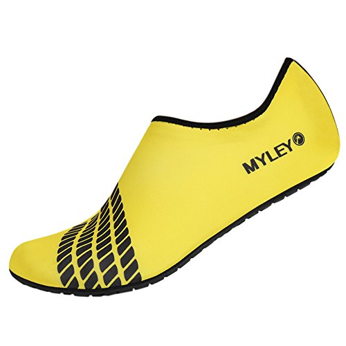 Moresave Men Women Skin Shoes Water Shoes Exercise Pool Beach Swim Slip On Surf Yellow-1 hjjmBy