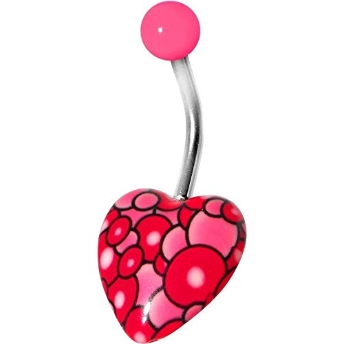 HOT SALE ! Lovely Pink Bubble Bursting Heart Belly ()