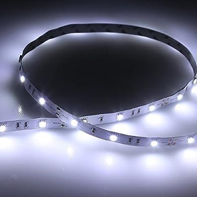 LE 16.4ft 300 Units SMD 5050 LEDs Flexible Light Strip, Non-waterproof, 12 Volt, Indoor Party Christmas Holiday Festival Celebration Decoration
