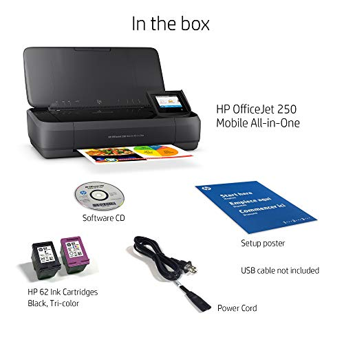 41dV5cQffLL - HP OfficeJet 250 All-in-One Portable Printer with Wireless & Mobile Printing (CZ992A)