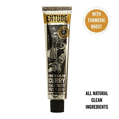 Entube Organic Indian Curry Paste, All Natural Spicy Vegetarian Curry Paste, Non-GMO, Best Gluten-Free Vegan Curry Sauce Spices for Cooking Paleo Diet