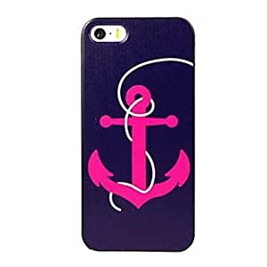 Elonbo J1A22 Retro Cute Anchor Hard Back Case Cover for iPhone 5/5S
