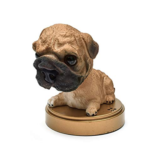 ZCP Car Ornaments Simulation Dog Shaking Head Dog Car Perfume Decoration Cute Dog Car Shaking Head Car Perfume Seat Interior Car Decoration (Color : Shar Pei, Size : 2pcs)