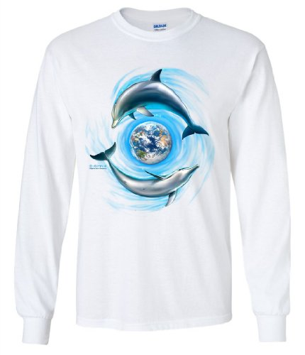 (Good Planet Dolphins By Royce Long Sleeve Shirt - White 3X-Large)