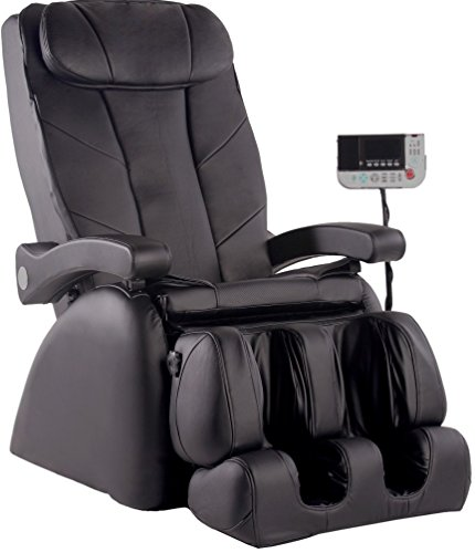Elite Reclining Recliner (ME-1 Montage Elite Reclining Heated Massage Chair Upholstery: Black)