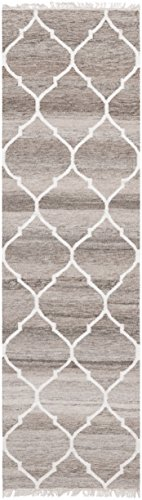 Wool Runner Gray - Safavieh Natural Kilim Collection NKM317A Flatweave Light Grey and Ivory Wool Runner (2'3