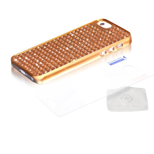 BlingMyThing ei5-gm-gl-lct Light Colorado Pure Extravaganza Schutzhülle für Apple iPhone 5 metallic gold