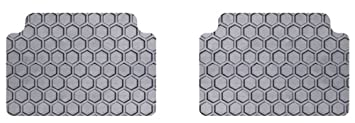 Clear Rubber-Like Compound Intro-Tech KI-635-RT-C Hexomat Front and Second Row 4 pc Custom Fit Auto Floor Mat for Select Kia Forte Models