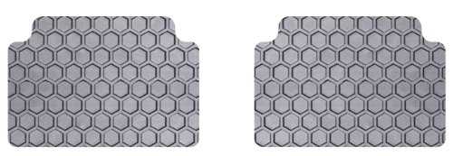 Rubber-Like Compound Custom Fit Auto Floor Mats for Select Infiniti QX70 Models Gray Intro-Tech IN-688R-RT-G Hexomat Second Row 2 pc