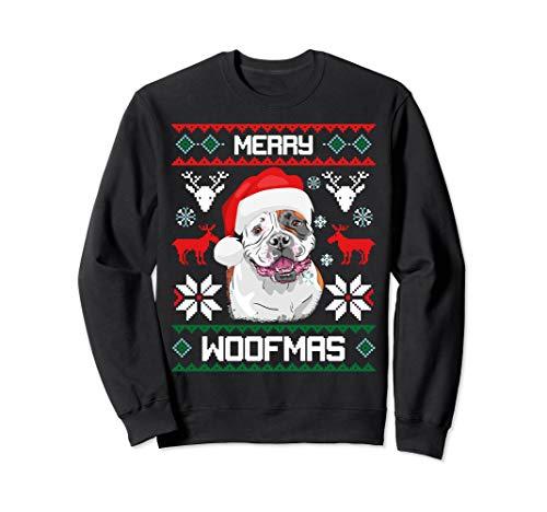 American Bulldog Merry Woofmas Sweatshirt Christmas Dog