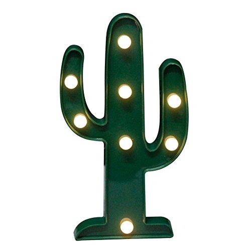 yamalans Flamingo Piña Árbol de Navidad LED luz nocturna lámpara de mesa Xmas Party Decor, Cactus**