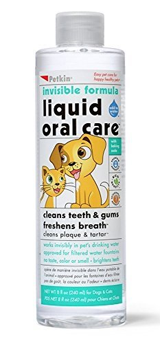 Petkin invisible formula Liquid Oral Care Teeth, Dental Gums Fresh Breath Dogs and Cats