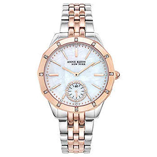 New Anne Klein New York 12/2305MPRT Two-Tone Swarovski Crystal Ladies Watch