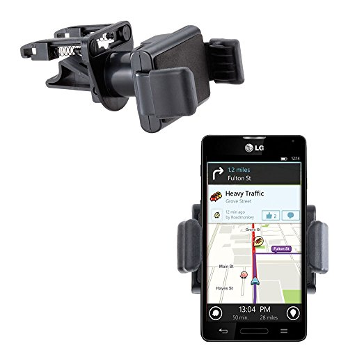 Gomadic Ultra Compact Air Vent Clip Based Cradle Holder Car / Auto Mount suitable for the LG Optimus F7