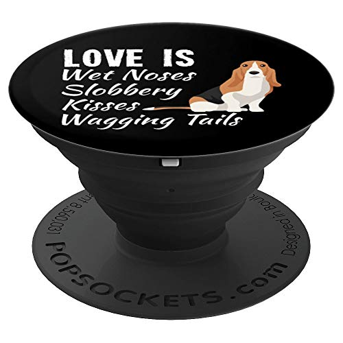 Basset Hound Dog Gift - PopSockets Grip and Stand for Phones and Tablets