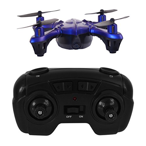 Hover-Way 2.4 GHZ Sky Spy Micro Drone with 480P Camera & 8GB SD - Pocket Size Video Nano Drone Blue