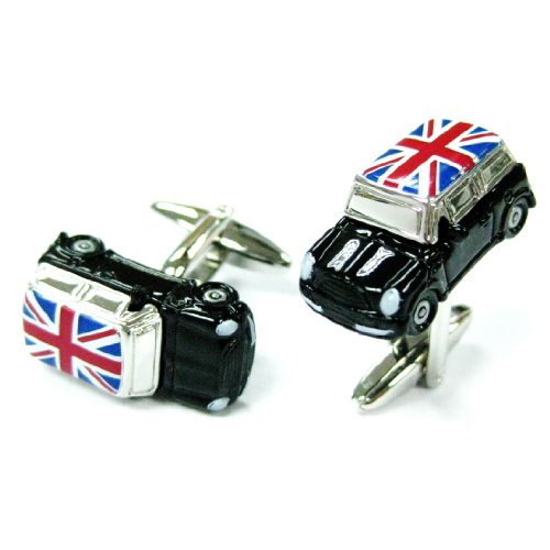 tailor-b-silver-black-mini-cooper-with-union-jack-flag-cufflinks-automotive-cuff-links