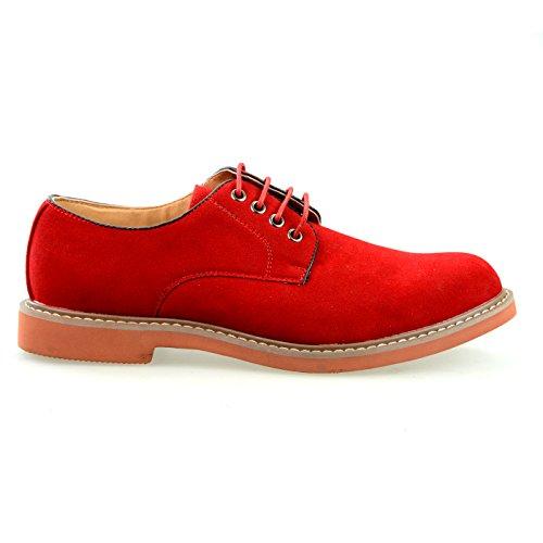 O-nine Heren Schoenen Mode Effen Blauw Kaki Rood Zwart Grijs Marineblauw Beige Beige Wit Camel Wijnrood Ms1300ly Rood