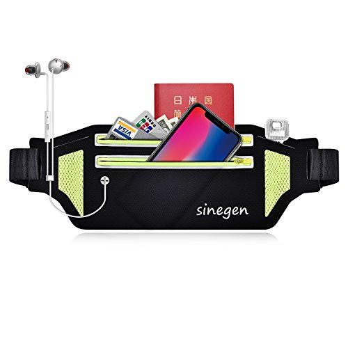 Fanny Pack Running Belt Waist Bum Bag for Running Climbing Cycling Hiking Fitness, Light Slim Water Resistant Reflective Pouch for iPhone iPod Samsung Phone Under 6 Inch