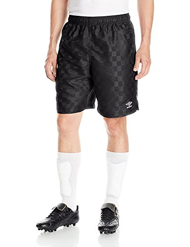 Umbro Men's Classic Checkerboard Shorts, Black/White, XX-Large