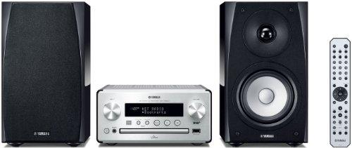 Yamaha MCR-N560D (DAB-Version) PianoCraft Kompaktanlage (Netzwerk, AirPlay, App Steuerung, CD, DAB+ Radio, USB) silber/klavierlack schwarz