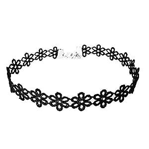 Ogquaton Collar de Gargantilla gótica de Tatuaje de Girasol de ...