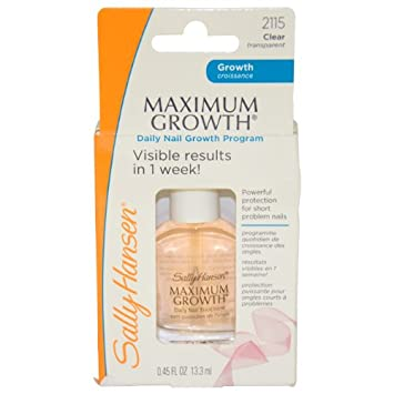Amazon.com : Sally Hansen Maximum Growth Daily Nail Growth Program ...