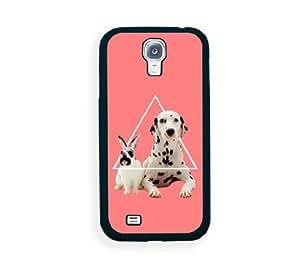 Triangle Rabbit And Dog Samsung Galaxy S4 I9500 Case - Fits Samsung Galaxy S4 I9500