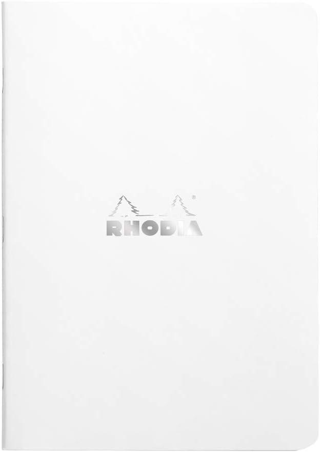Clairefontaine 119155C Un Carnet piqu/é Rhodia Classic 7,5x12 cm 48 pages non d/étachables DOT impression petits points couverture Noir