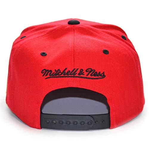 Gorra Ness Talla de béisbol única amp; Rojo para Rojo Mitchell Hombre xwgBRqTP