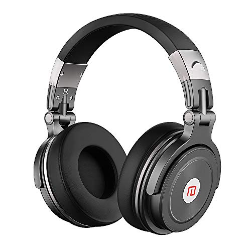 Bluetooth Headphones,Over Ear Wireless Headset,40 mm Drivers Earbuds, Deep Bass Wireless Headphones (15 Hour Playtime,Active Noise Cancelling) for Travel Work TV Computer Phone (Black)