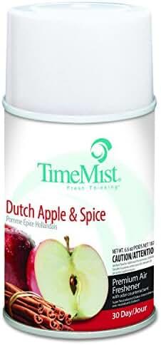 TimeMist 1042818EA Metered Fragrance Dispenser Refill, Dutch Apple & Spice, 6.6 oz, Aerosol