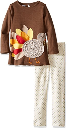 Mud Pie Reindeer (Mud Pie Toddler Girl Holiday Two Piece Playwear Set, Turkey, 4T)